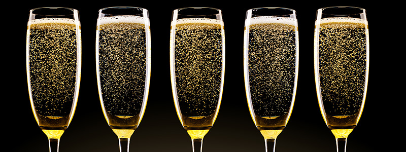 prosecco bar serving chilled fizz